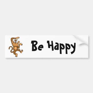 XX- Happy Dancing Monkey Bumper Sticker