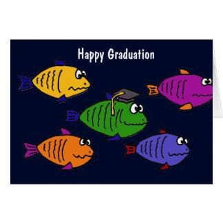 XX- Happy Graduation School of Fish Greeting Card