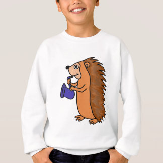XX- Hedgehog Playing Saxophone Cartoon Sweatshirt