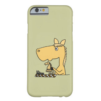 XX- Horse Playing Chess Cartoon Barely There iPhone 6 Case