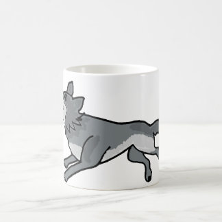 XX- Leaping Wolf Coffee Mug