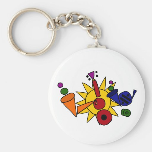 XX- Music and Sun Abstract Art Key Chains