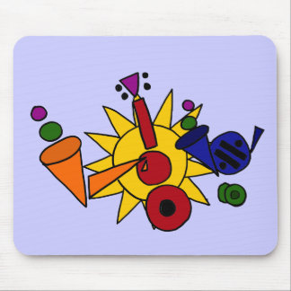 XX- Music and Sun Abstract Art Mouse Pad