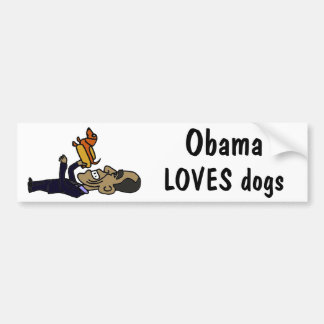 XX- Obama LOVES Dogs Bumper Sticker