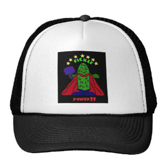 XX- Pickle Power Superhero Pickleball Cartoon Hat