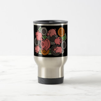 XX- Piggy Banks and Coins Art Travel Mug