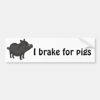 XX- Pot Bellied Pig Cartoon Bumper Sticker