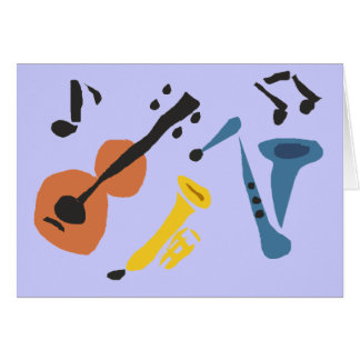 XX- Primitive Art Musical Instruments Card