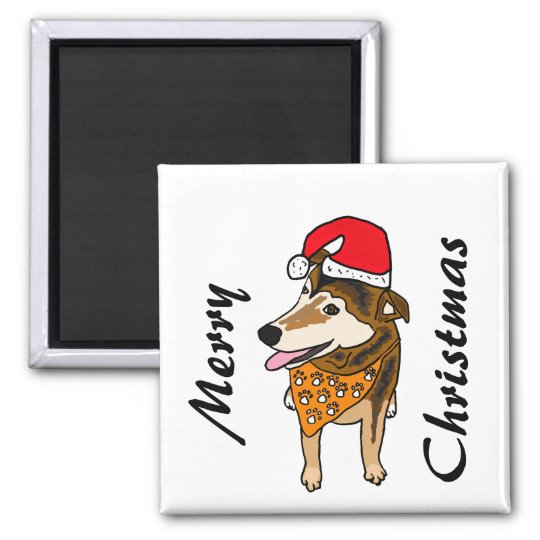 XX- Rescue Dog Christmas Magnet