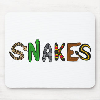 XX- Snakes Letters Art Mouse Pad
