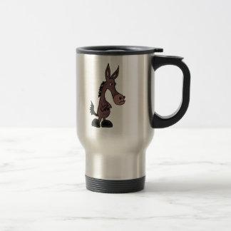 XX- Stubborn Mule or Donky Cartoon Stainless Steel Travel Mug