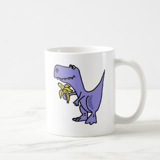 XX- T-Rex Dinosaur Eating Banana Cartoon Coffee Mug