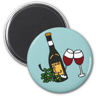 XX- Wine and Glasses Art Magnet
