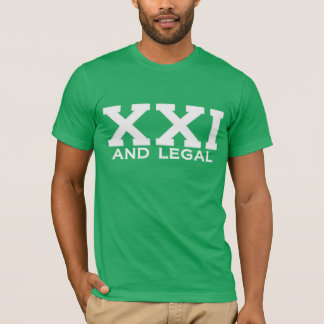 XXI and legal Milestone Birthday Tee