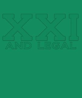 XXI and legal Milestone Birthday Tee