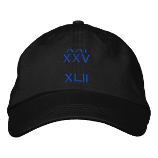 XXI  XXV     XLII EMBROIDERED HAT