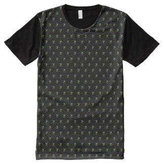 XXL Floral Motif on black All-Over Print T-Shirt