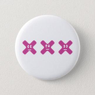 xxx 6 cm round badge