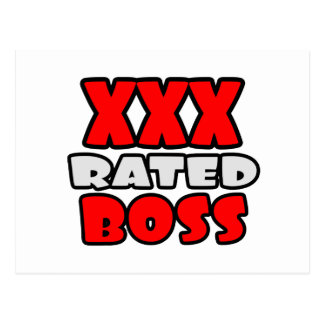 XXX Rated Boss Post Card