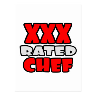XXX Rated Chef Postcard
