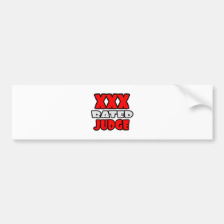 XXX Rated Judge Bumper Sticker