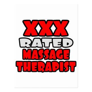XXX Rated Massage Therapist Postcard