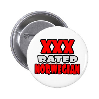 XXX Rated Norwegian 6 Cm Round Badge