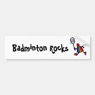 XY- Funny Badminton Birdie Cartoon Bumper Sticker