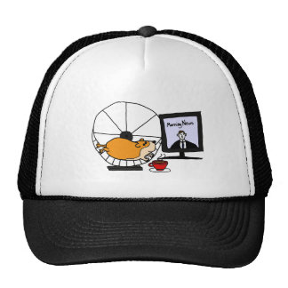 XY- Funny Hamster on an Exercise Wheel Satire Cap