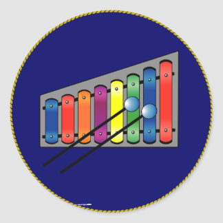 Xylophone Classic Round Sticker