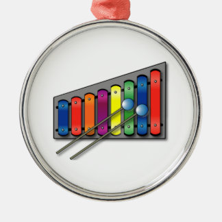 Xylophone Metal Ornament