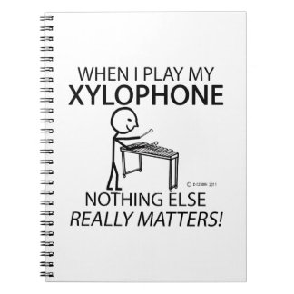 Xylophone Nothing Else Matters Spiral Notebooks