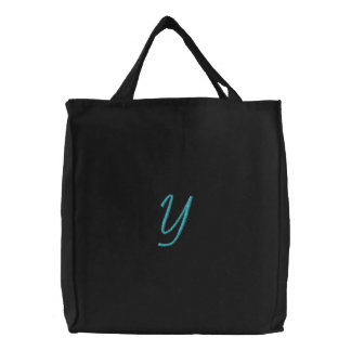 """""""Y"""" / by: Opal01 Embroidered Tote Bag"""