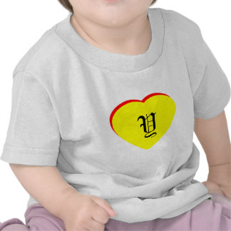 """""""Y"""" Heart Yellow Red Wedding Invitation The MUSEUM Tee Shirt"""