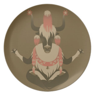 Y is for Tibet Yak Plates