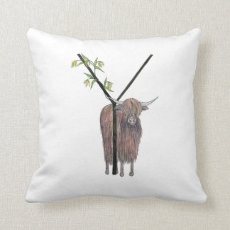 Y is for Yak and Ylang Ylang! Cushion