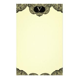 Y - The Falck Alphabet (Golden) Custom Stationery