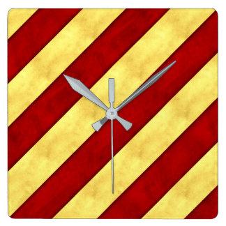 Y Yankee Watercolor Nautical Signal Maritime Flag Square Wall Clock