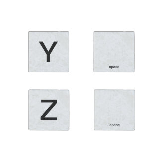 Y Z and two spaces spelling magnets