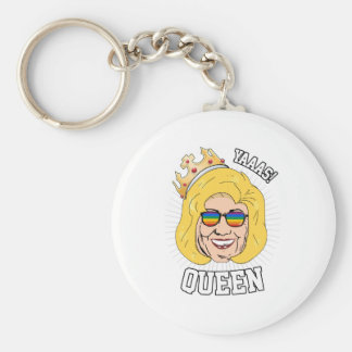Yaaas Queen - Hillary Clinton Pride - LGBT - Basic Round Button Key Ring