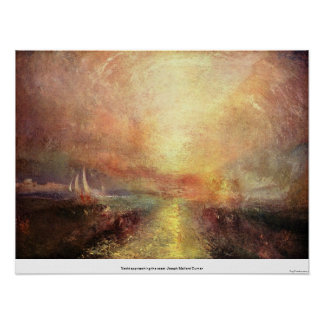 Yacht approaching the coast -Joseph Mallord Turner Posters