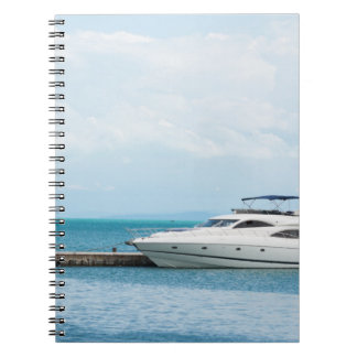 Yacht at mooring notebook