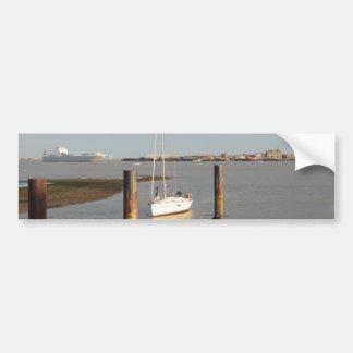 Yacht Bliss Entering Harbour Bumper Sticker