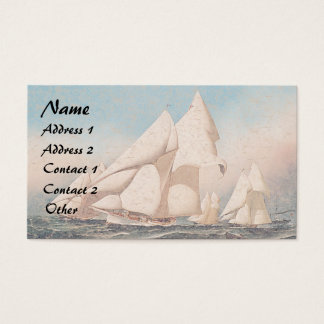 Yacht Boat Race Sailboats Ocean Business Cards