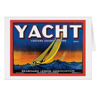 Yacht Brand Ventura County Lemons Vintage Crate La Greeting Card