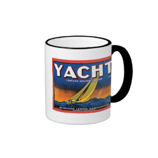 Yacht Brand Ventura County Lemons Vintage Crate La Ringer Coffee Mug