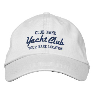 Yacht Club Personalizable Cap Embroidered Hat