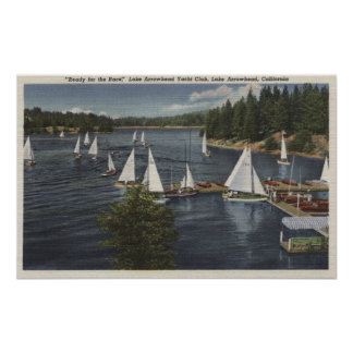 Yacht Club, Sailboat Race Poster