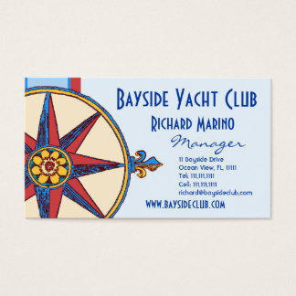 Yacht Club, Sailing Club, Marina, Nautical Shop Business Card