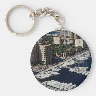 Yacht harbor, Monaco Key Ring